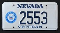 "NEVADA "" U.S  VETERAN - UNITED STATES NAVY "" NV Military Specialty License Plate"