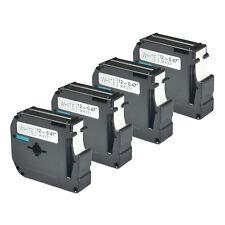 4PK Black on White Label Tape For Brother M-K231 MK231 P-touch PT-65 PT-85 1/2''
