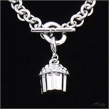 CUPCAKE Mini Baker Charm Cake Bracelet Jewelry Costume Crystal Clear 3D New 559