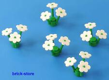 LEGO white Flowers / Plants / 5 Pcs