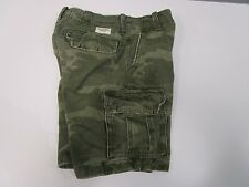 Abercrombie & Fitch Cargo Camo Shorts Button Fly Inner Drawstring Heavy Men's 28