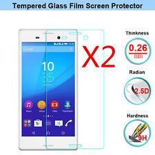 2PCS Vitre Protection d'écran VERRE Trempé Film pour Sony Xperia Z3 Z5 Compact