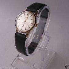 Relojes de pulsera de cuerda de metal dorado para mujer