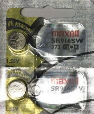 2 NEW MAXELL SR916SW 373 Silver Oxide 1.55v Watch Batteries Aussie Stock EXP2022