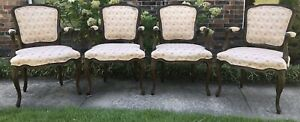 Kindel French Arm Chairs- SET OF 4