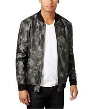 $130 INC International Concepts Men's Faux-Leather Bomber Jacket, Black, 2XL