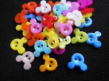 50pcs Mixed Mickey Mouse Style 2 Holes Resin  Buttons Fit Sewing and Scrapbook