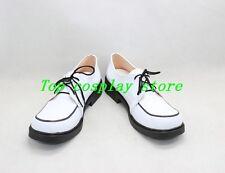 anime Rosario and Vampire Shirayuki Mizore PU Leather Cosplay Shoes boots shoe