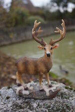 NA0666   FIGURINE  STATUETTE CERF CHASSE  A COURS FORET  ANIMAL