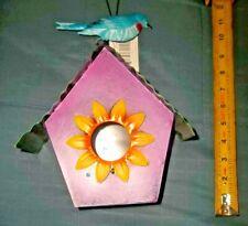 BirdHouse Purple metal 11 inches