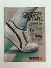 Reebok The Act 600 1985 Vintage Print Ad