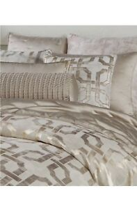 Hotel Collection Fresco King Duvet Cover Dec. Pillow+2Stand.Shams+Coverlet.Gold