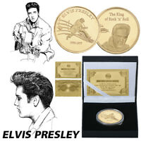 WR Elvis Presley 24K Gold Coin The King of Rock N Roll In Gifts Box