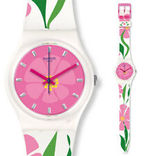 SWATCH Primevere mother's Día Reloj gz304 Análogo Silicona Verde, rosa, blanco