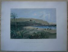 1837 Bartlett print APPROACH TO HAIFA, BAY OF ACRE; PALESTINE (#14)