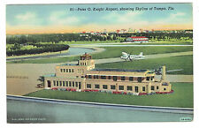 Tampa Florida Peter O Knight Airport Tampa Florida in background posted 1943