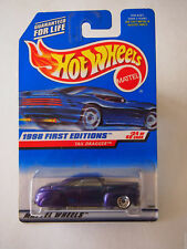 HOT WHEELS 1998 First Editions - Purple TAIL DRAGGER - #659 - 24/40  Lace Wheels