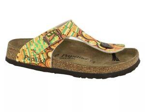 Birkenstock 36 Papillio Gizeh Birko-flor African Wax Gold Sandal Free Ship 6 5.5