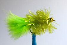 10 x Mouche de peche Streamer Blob Chartreuse BILLE H8/10/12 mosca fly truite