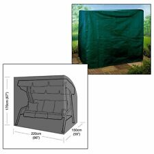 Heavy Duty Strong Waterproof 3 Seater Garden Swinging Hammock Cover Zips and Cord