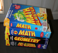 Lot of 4 MATH BLASTER CD Rom PC Software Vintage Educational