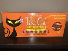 NEW Tiki Cat Grill Grain-Free, Low-Carbohydrate Wet Food, 6 Flavors, 12 Pack