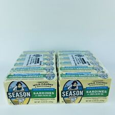 12 Cans Season Brand Sardines in Olive Oil Wild Caught Skinless 4.375 oz