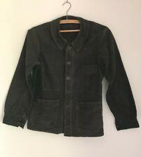 Ancienne veste  de travail en moleskine noire
