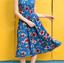 NWOT eShakti Size Medium / M 12 FLORAL PRINT COTTON MODAL RUCHED PLEAT DRESS