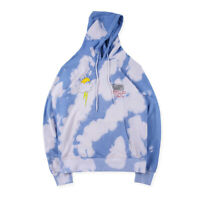 INS Travis Scott Birthday Tour Hiphop Lightning cloud Tie dyed Hoodie Sweatshirt