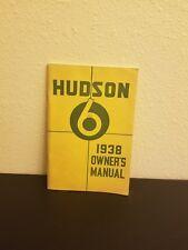 RARE Hudson Six Owner's Manual 1938 Vintage 6