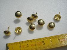 80 clous de tapissier perle fer 10,5 mm laitonné
