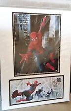 SPIDER-MAN Comics Matted Stamp Art & USPS 2007 New York Stamped Cover