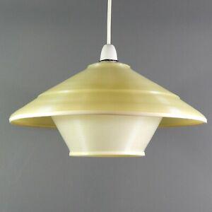 "Rare Model Vintage ARP Disderot Rotaflex Lampshade Pendant Light 14.6"" Heifetz"