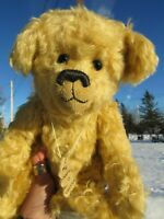 "VINTAGE MOHAIR TEDDY BEAR 14"" OOAK ARTIST HAND CRAFTED GIFT ADORABLE CHESTER TOY"