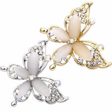 Brooch Lapel Pin Fashion Jewelry Delicate Women Butterfly Shape Metal Rhinestone