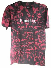 EMERICA MEN'S PURE EMERICA 12.1 DRY TEE SKATE T-SHIRT,RED/BLACK, MEDIUM,NEW