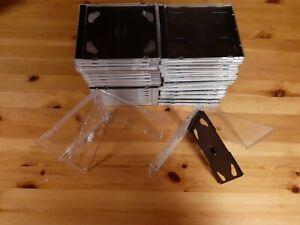 50 CD LEERHÜLLEN Jewel Case für 2 CD/DVD Schwarz