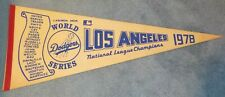 Los Angeles Dodgers 1978 World Series Full Size Pennant Vintage Rare