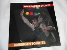 The Rolling Stones American Tour '81 Official Program 12X12 24 pages