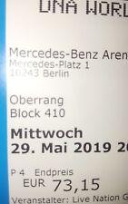 BACKSTREET BOYS BERLIN 29.05.2019 TICKETS SITZPLÄTZE OBERRANG BLOCK 410 REIHE 12