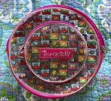 True Vtg Tamagotchi Round Multi color Clear Plastic Vinyl Backpack 1997 Bandai