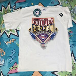 NWT Vtg 1993 Starter Philadelphia Phillies Champs T Shirt XL Single Stitch 90s