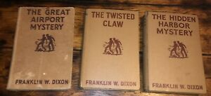 Hardy Boys 3 Lot Book Lot TWISTED CLAW RARE Vintage 1939 HC Franklin W. Dixon