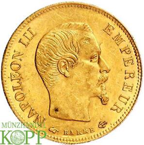 AB6175) FRANKREICH KÖNIGREICH Napoléon III, 1852-1870.  10 Francs 1857 A GOLD