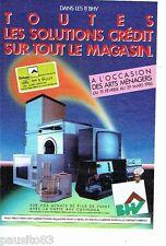 PUBLICITE ADVERTISING 116  1986   Cofinoga & BHV  solution crédit éléctroménager