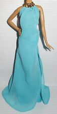 DRESS ONLY ~ LOOK ~BARBIE DOLL POOL CHIC LENGTH BLUE EVENING GOWN FIT MODEL MUSE