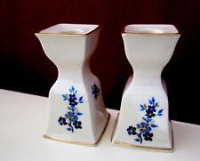 2 Lenox Pagoda Candlesticks Blue Flowers Decoration Usa