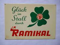 RAMIKAL Spezialfuttermittel  Hamburg  Original altes Blechschild 1960er Jahre