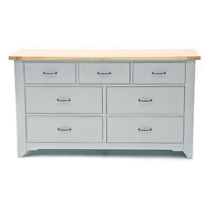 Malvern Oak & Painted French Style 7 Drawer Chest - ex Willis & Gambier stock